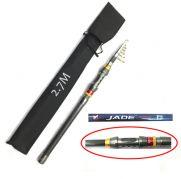 Cần câu máy xếp carbon JADE rút gọn tiện lợi 2m7